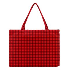 Red And Black Medium Tote Bag by PhotoNOLA