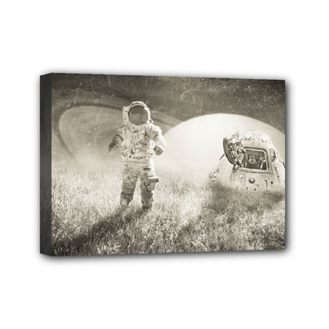 Astronaut Space Travel Space Mini Canvas 7  X 5  by Simbadda