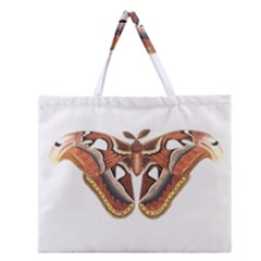 Butterfly Animal Insect Isolated Zipper Large Tote Bag by Simbadda