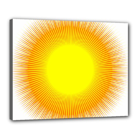 Sunlight Sun Orange Yellow Light Canvas 20  X 16  by Alisyart