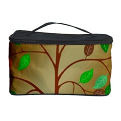 Tree Root Leaves Contour Outlines Cosmetic Storage Case by Simbadda