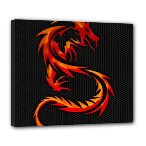 Dragon Deluxe Canvas 24  X 20   by Simbadda