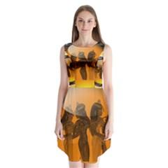Maps Egypt Sleeveless Chiffon Dress   by Simbadda