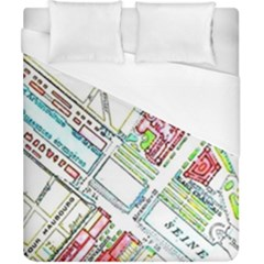 Paris Map Duvet Cover (california King Size) by Simbadda