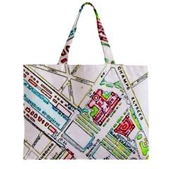 Paris Map Medium Tote Bag by Simbadda