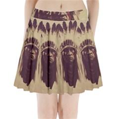 Indian Pleated Mini Skirt