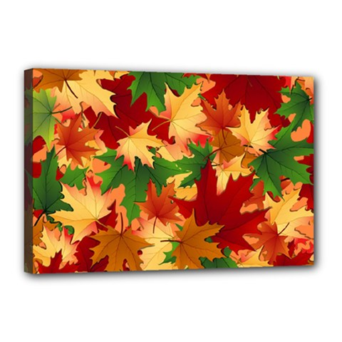 Autumn Leaves Canvas 18  X 12  by Simbadda