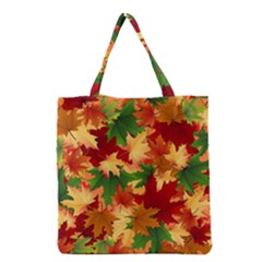 Autumn Leaves Grocery Tote Bag by Simbadda