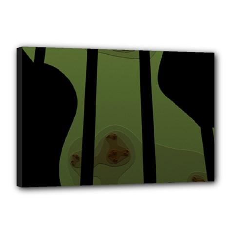 Fractal Prison Canvas 18  X 12  by Simbadda