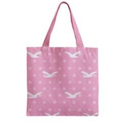 Wallpaper Same Palette Pink Star Bird Animals Zipper Grocery Tote Bag by Alisyart