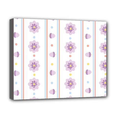 Beans Flower Floral Purple Deluxe Canvas 20  X 16   by Alisyart