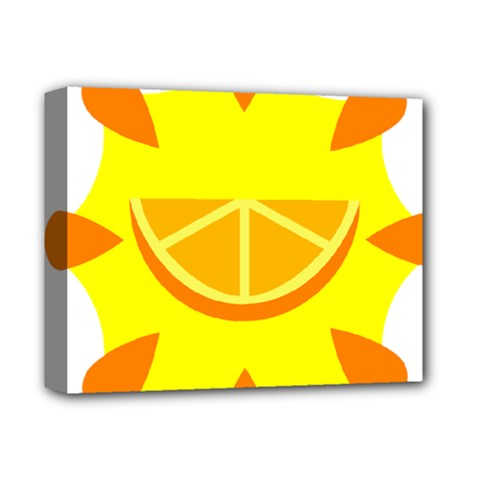 Citrus Cutie Request Orange Limes Yellow Deluxe Canvas 14  X 11  by Alisyart