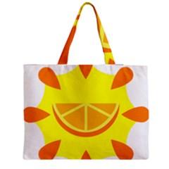 Citrus Cutie Request Orange Limes Yellow Medium Zipper Tote Bag by Alisyart