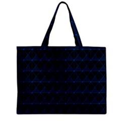 Colored Line Light Triangle Plaid Blue Black Mini Tote Bag by Alisyart