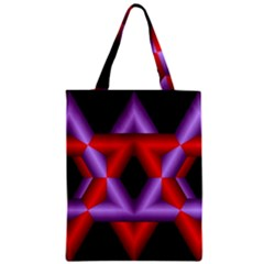 Star Of David Zipper Classic Tote Bag by Simbadda