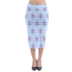 Flower Floral Different Colours Blue Purple Midi Pencil Skirt by Alisyart