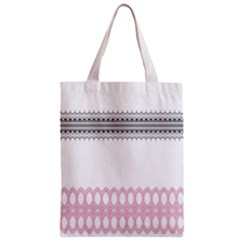 Crown King Quinn Chevron Wave Pink Black Zipper Classic Tote Bag by Alisyart