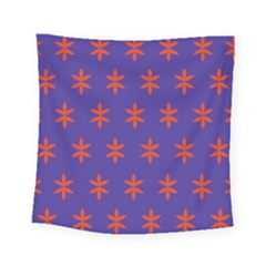 Flower Floral Different Colours Purple Orange Square Tapestry (small) by Alisyart