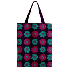 Flower Floral Rose Sunflower Purple Blue Classic Tote Bag by Alisyart