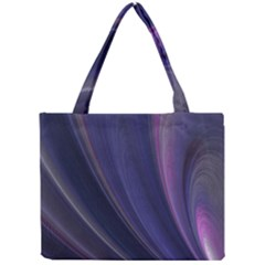 Purple Fractal Mini Tote Bag by Simbadda