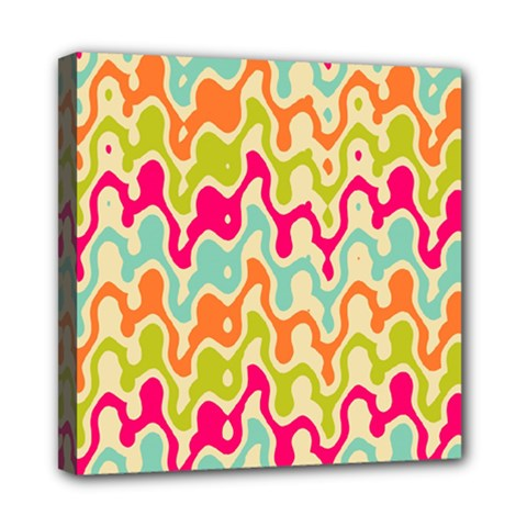 Abstract Pattern Colorful Wallpaper Mini Canvas 8  X 8  by Simbadda