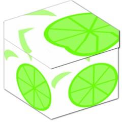 Fruit Lime Green Storage Stool 12   by Alisyart