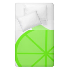 Fruit Lime Green Duvet Cover Double Side (single Size) by Alisyart