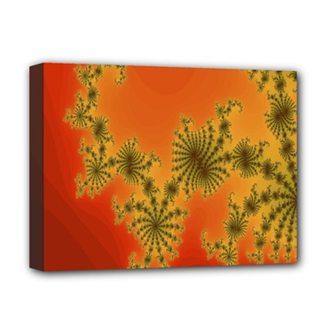 Decorative Fractal Spiral Deluxe Canvas 16  X 12   by Simbadda