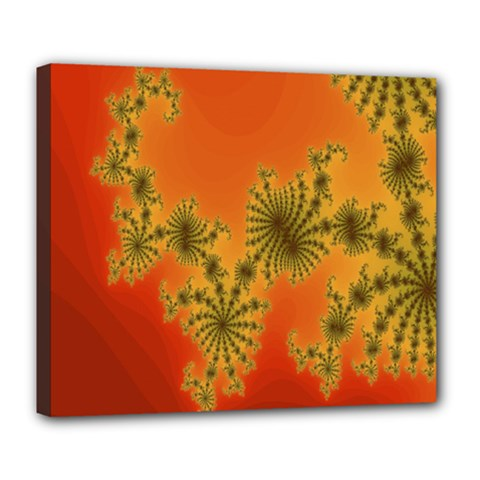 Decorative Fractal Spiral Deluxe Canvas 24  X 20   by Simbadda
