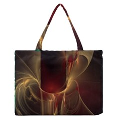 Fractal Image Medium Zipper Tote Bag by Simbadda