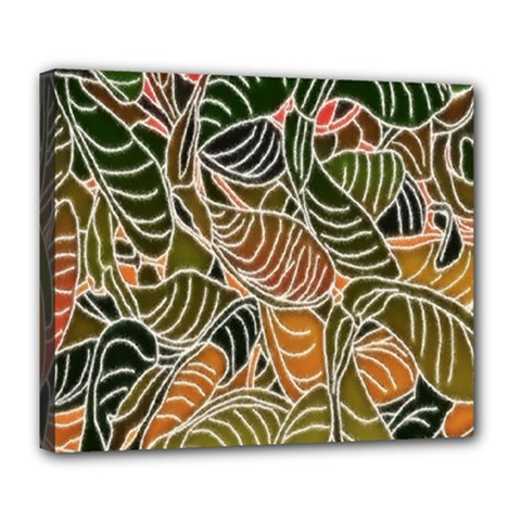 Floral Pattern Background Deluxe Canvas 24  X 20   by Simbadda