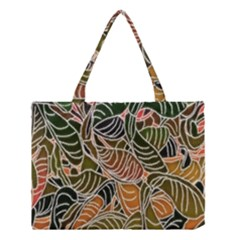 Floral Pattern Background Medium Tote Bag by Simbadda