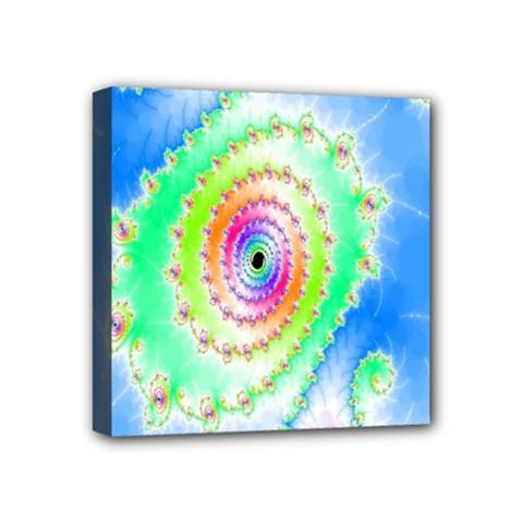 Decorative Fractal Spiral Mini Canvas 4  X 4  by Simbadda