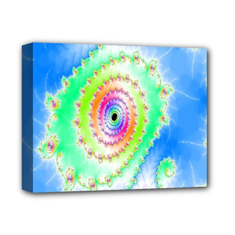 Decorative Fractal Spiral Deluxe Canvas 14  X 11  by Simbadda