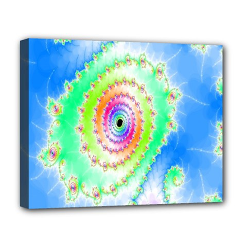 Decorative Fractal Spiral Deluxe Canvas 20  X 16   by Simbadda