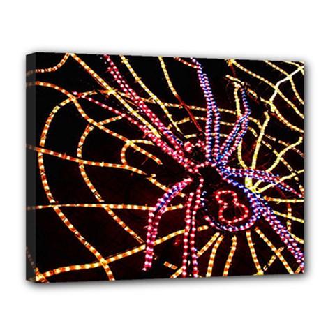 Black Widow Spider, Yellow Web Canvas 14  X 11  by Simbadda