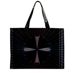 Fractal Rays Zipper Mini Tote Bag by Simbadda