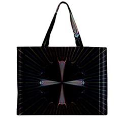 Fractal Rays Medium Tote Bag by Simbadda
