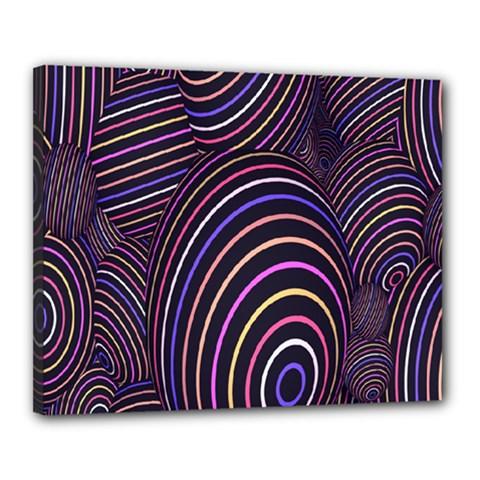 Abstract Colorful Spheres Canvas 20  X 16  by Simbadda