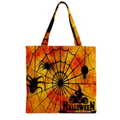 Halloween Weird  Surreal Atmosphere Zipper Grocery Tote Bag by Simbadda