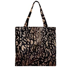 Wallpaper Texture Pattern Design Ornate Abstract Zipper Grocery Tote Bag by Simbadda