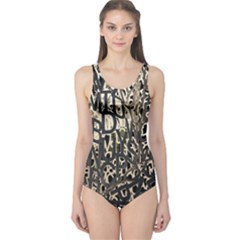 Wallpaper Texture Pattern Design Ornate Abstract One Piece Swimsuit by Simbadda