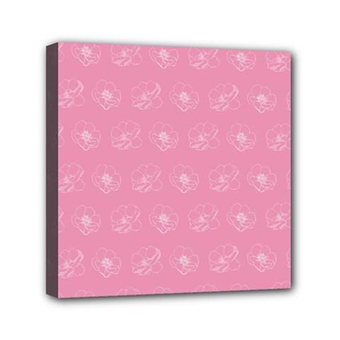 Pink Pattern Mini Canvas 6  X 6  by Valentinaart