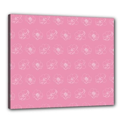 Pink Pattern Canvas 24  X 20  by Valentinaart
