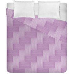 Purple Pattern Duvet Cover Double Side (california King Size) by Valentinaart