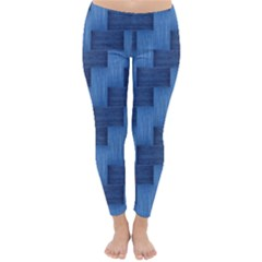 Blue Pattern Classic Winter Leggings by Valentinaart