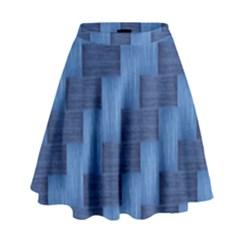 Blue Pattern High Waist Skirt by Valentinaart