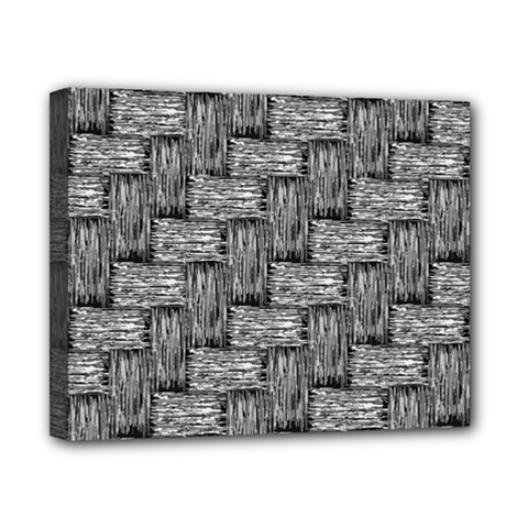 Gray Pattern Canvas 10  X 8  by Valentinaart