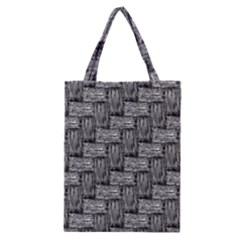 Gray Pattern Classic Tote Bag by Valentinaart
