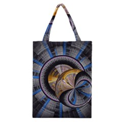Fractal Tech Disc Background Classic Tote Bag by Simbadda